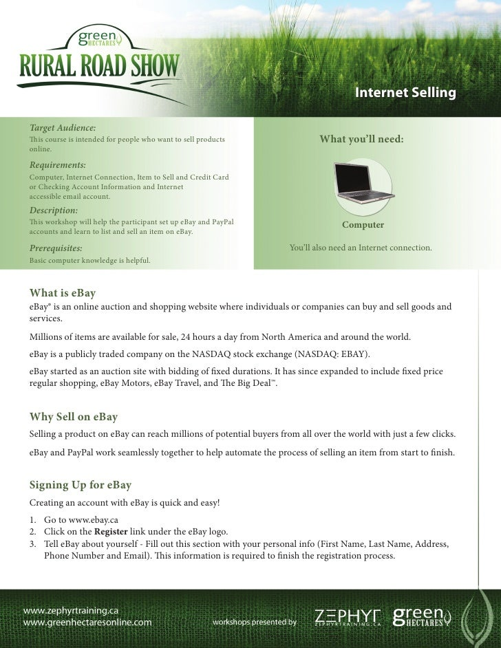 Green Hectares Rural Tech Factsheet – Internet Selling
