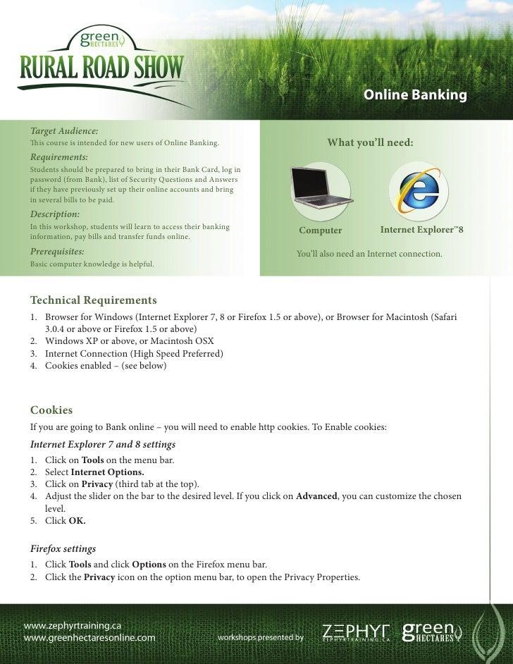 Green Hectares Rural Tech Factsheet – Online Banking
