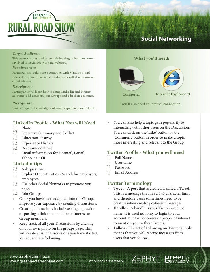 Social NetworkingTarget Audience:This course is intended for people looking to become more                         What yo...