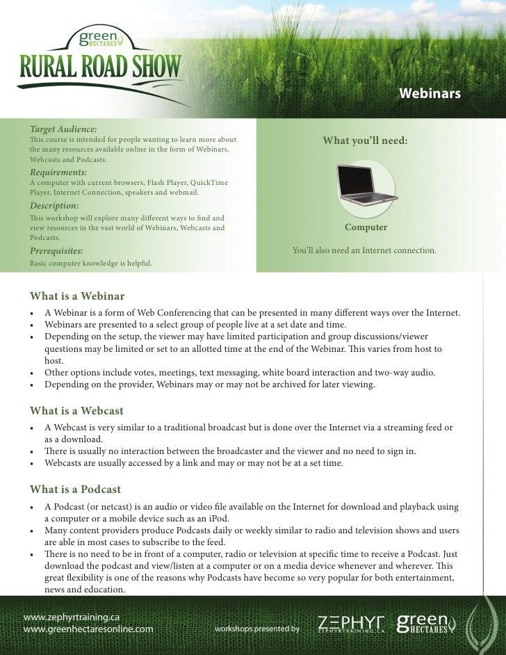 Green Hectares Rural Tech Factsheet – Webinars