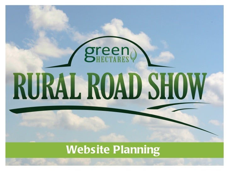 Green Hectares Rural Tech Workshop – Website Planning