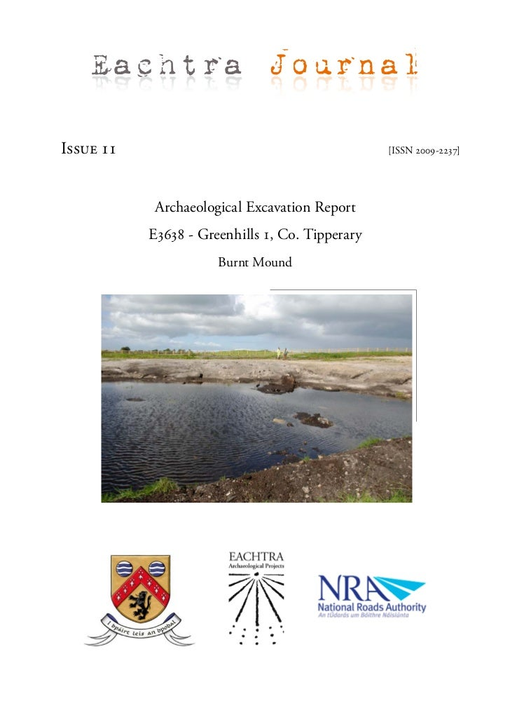 Archaeological Report - Greenhills 1, Co. Tipperary (Ireland)