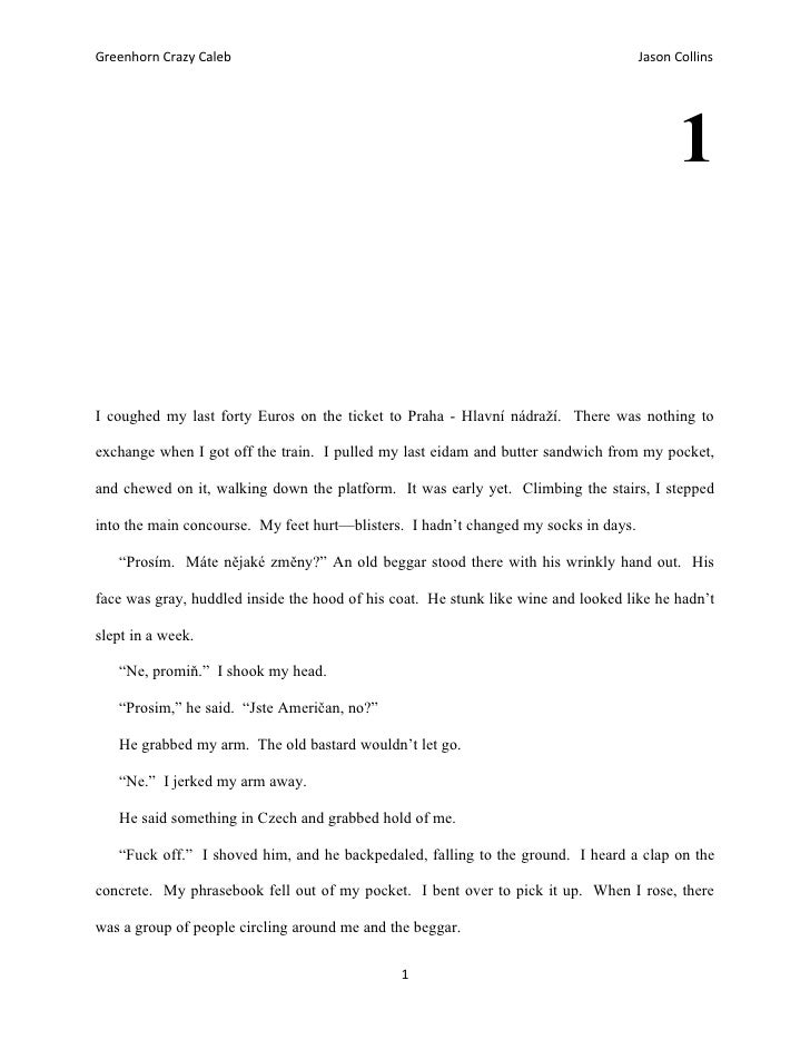 Greenhorn crazy caleb   first submission (chapters 1-3)