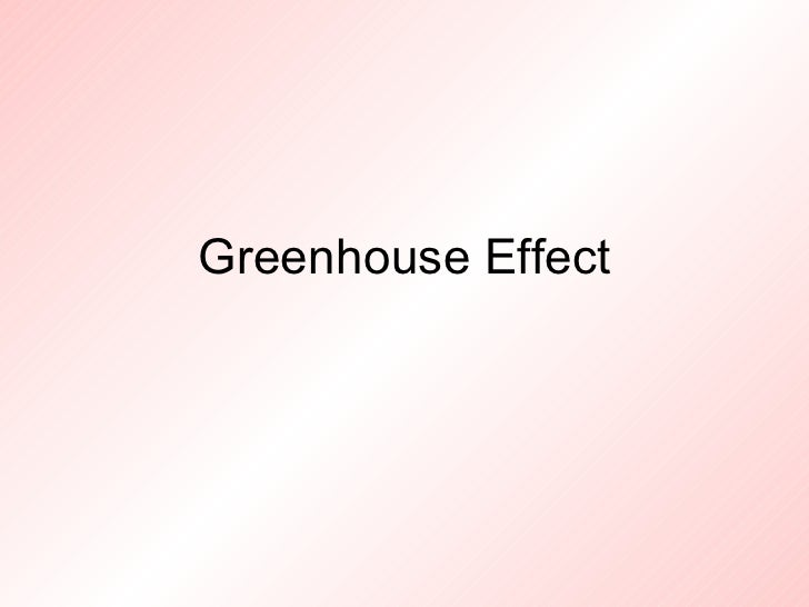 Greenhouse effect 1