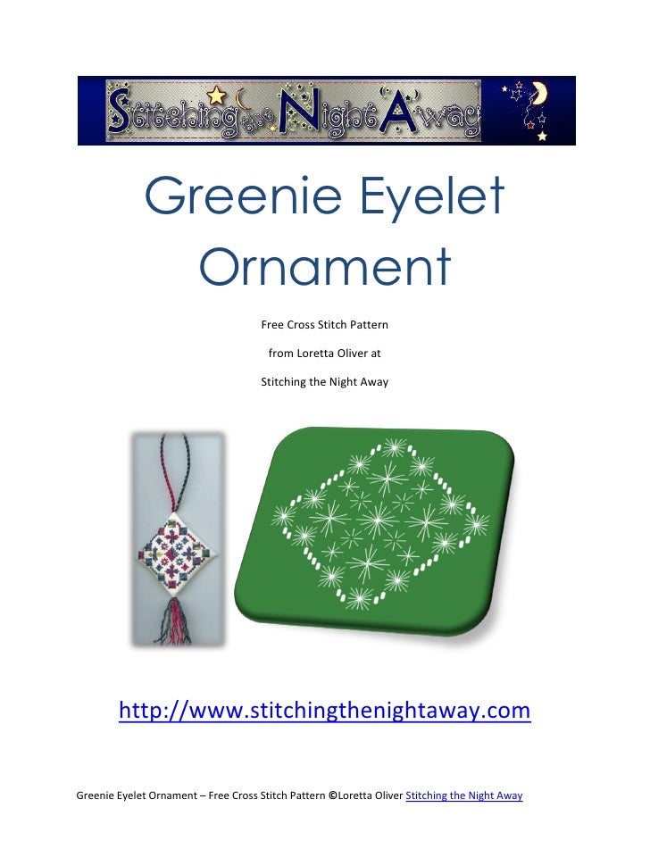 Eyelet Ornament Free Cross Stitch Pattern