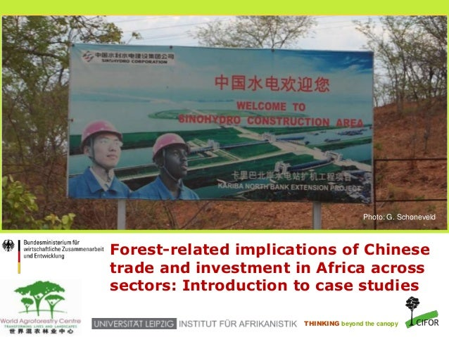 Forest-related implications of Chinese trade and investment in Africa across sectors: Introduction to case studies