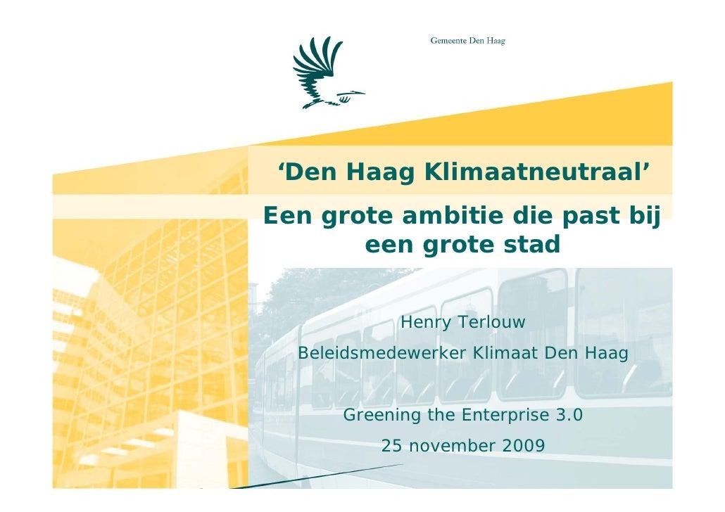 CO2 meting in de praktijk, Henry Terlouw, Den Haag