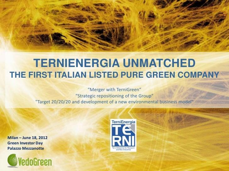 Green investor day TerniEnergia