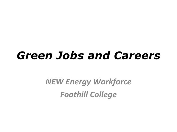 Green Jobs And Careers