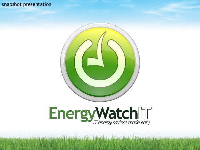 European Green IT Webinar 2014 - Energy WatchIT (Ireland)