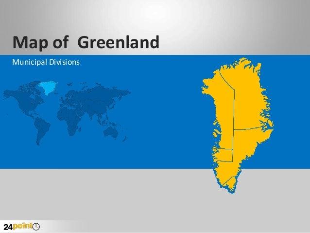 Greenland: Editable PPT Map Set