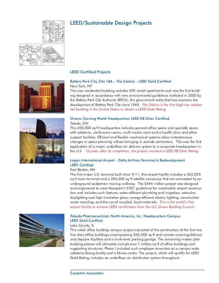 Green leed projects