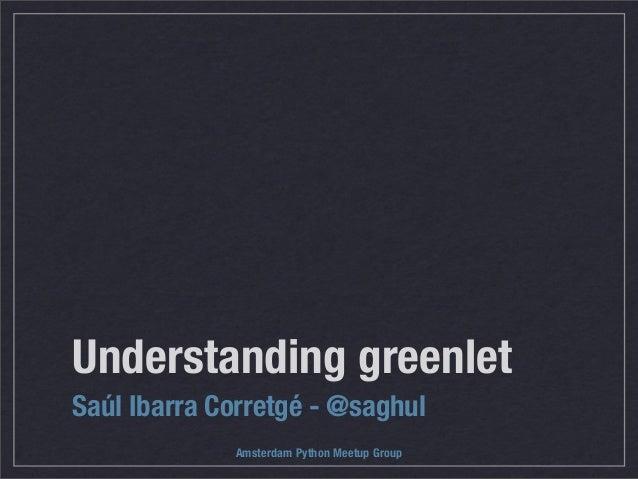 Understanding greenlet