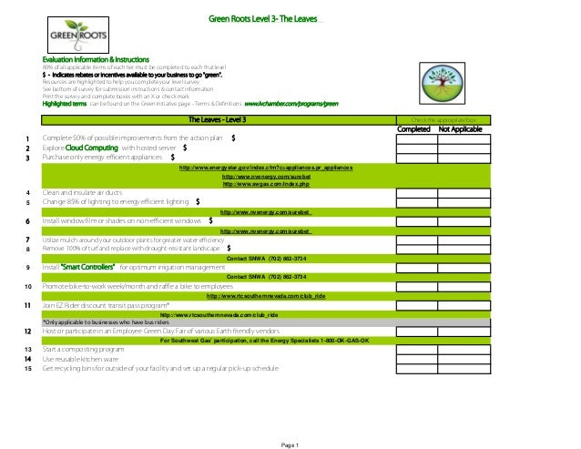 Green level 3 form