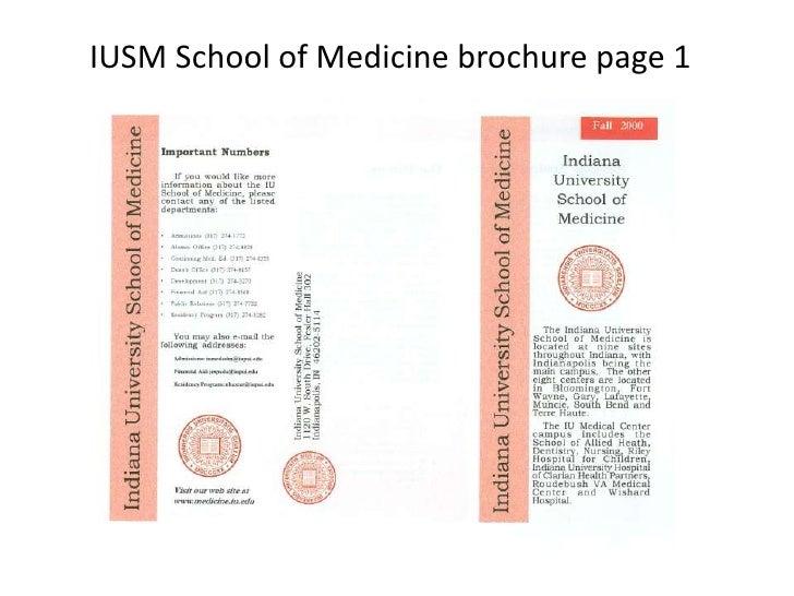 IUSM School of Medicine brochure page 1<br />
