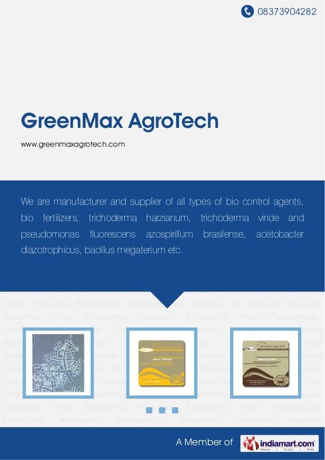 08373904282A Member ofGreenMax AgroTechwww.greenmaxagrotech.comTrichoderma Harzianum Trichoderma Viride Pseudomonas Fluore...