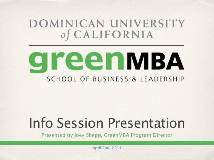 Green MBA Program Overview Presentation