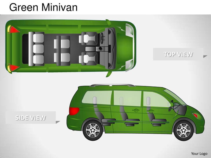 Green Minivan                TOP VIEW SIDE VIEW                       Your Logo