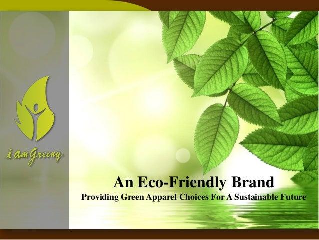I Am Greeny - Corporate Presentation