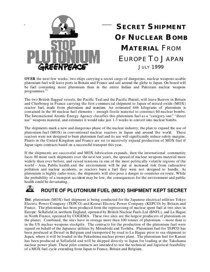 SECRET SHIPMENT                                                          OF NUCLEAR BOMB                                  ...