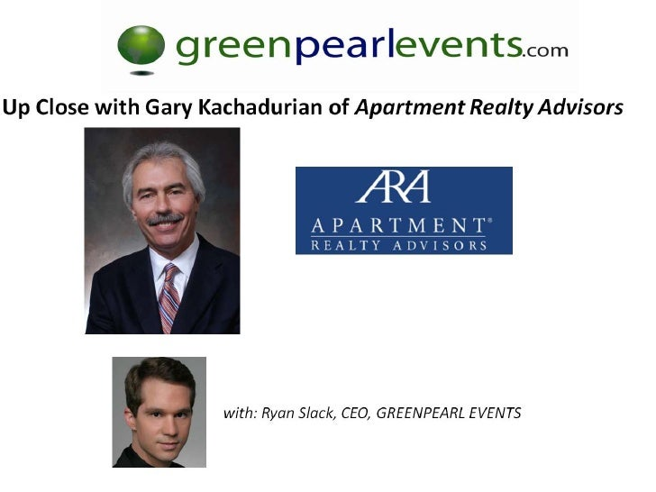 Green Pearl Events Multifamily Investment Summit   Gary Kachadurian Presentation