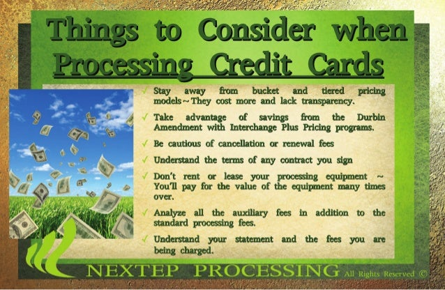 Things to think about if you process credit cards