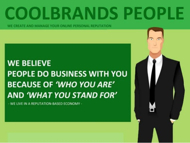 WHAT DO YOU STAND FOR? - COOLBRANDS PEOPLE