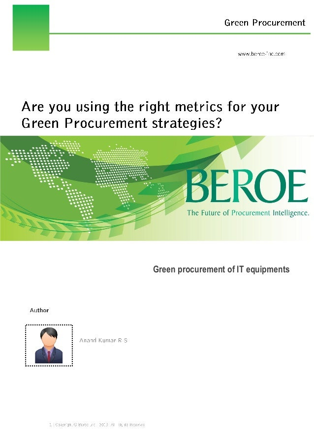 Green procurement for IT Devices