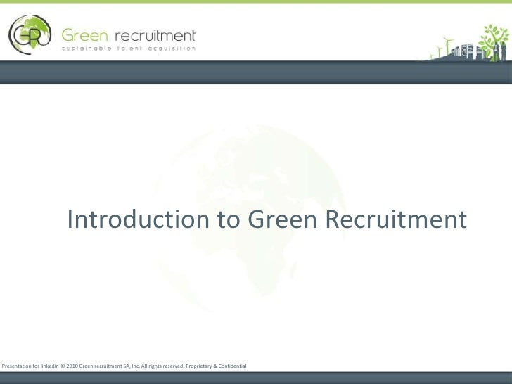Green Recruitment Ppt Beta 3