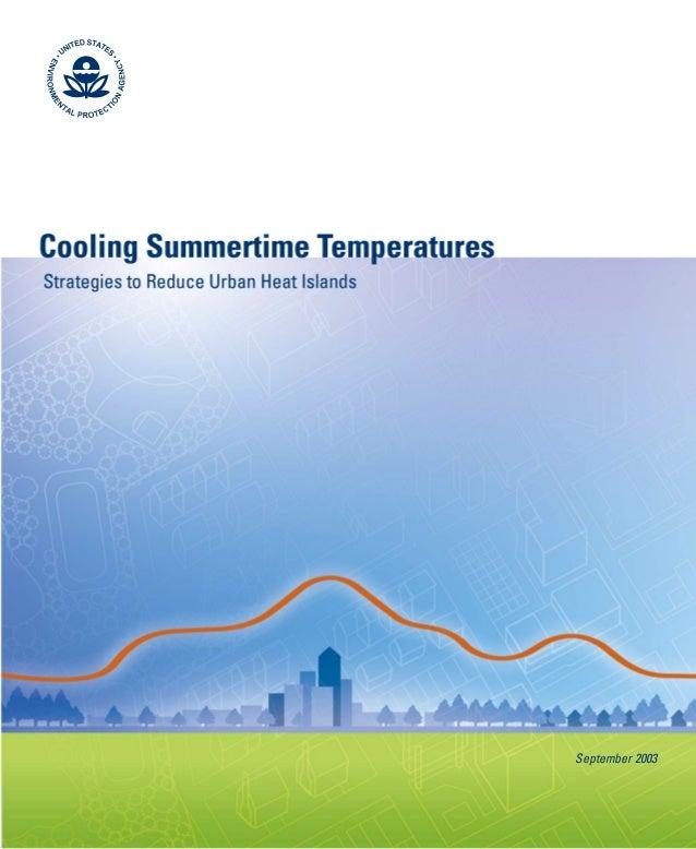 Green Roofs Cooling Summertime Urban Heat Islands