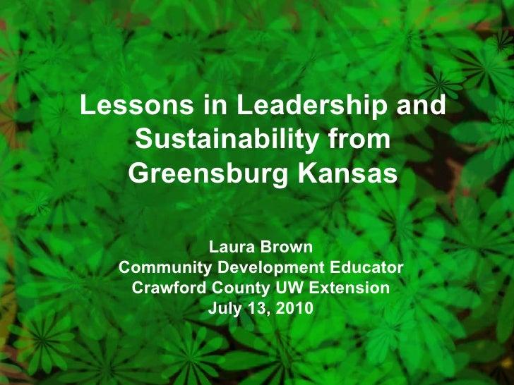 Greensburg presentation 7 13-10
