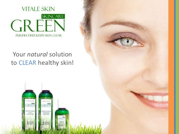 Vitale Skin-Green Skincare made with wheatgrass