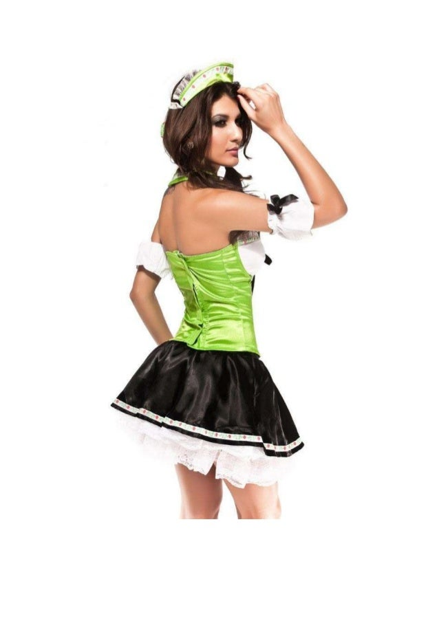 GREEN SLIM LACE UP MAID COSTUME                                            The best choice of fulfilling your dreams and  ...