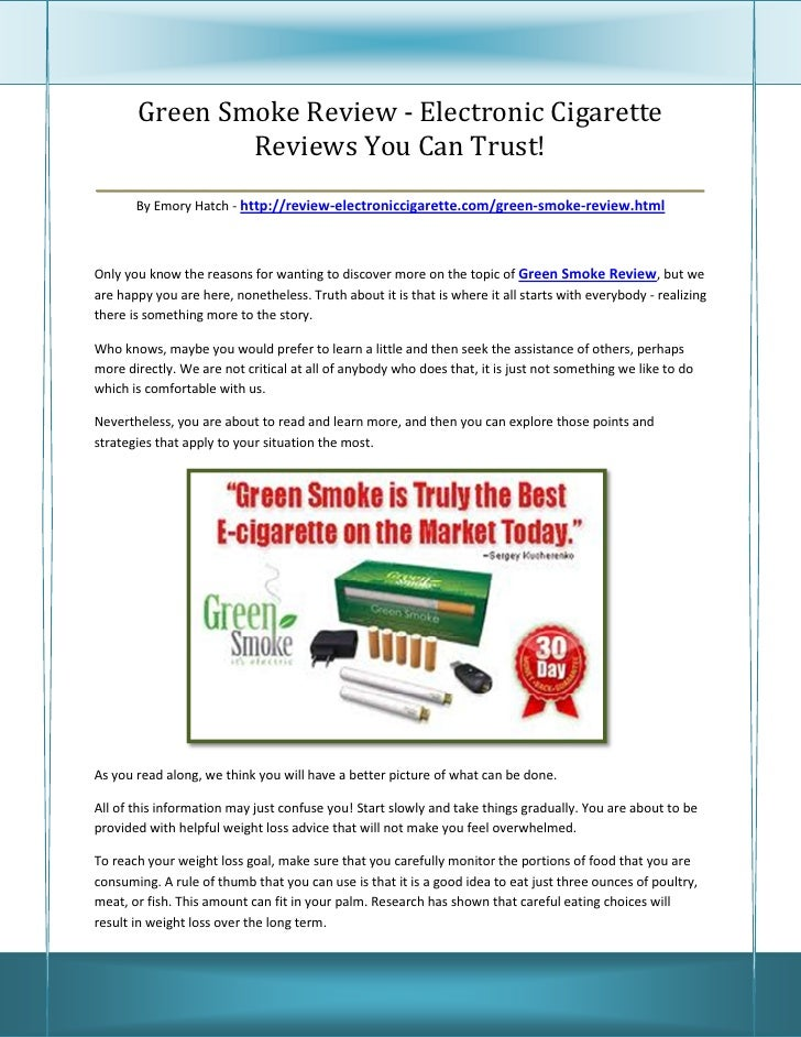 Green Smoke Review - Electronic Cigarette               Reviews You Can Trust!____________________________________________...