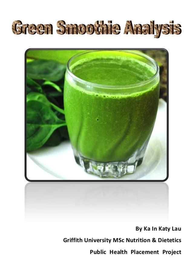By Ka In Katy Lau Griffith University MSc Nutrition & Dietetics Public Health Placement Project