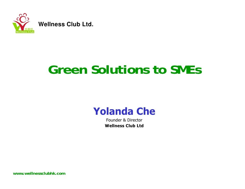 Green Solutions For SMEs