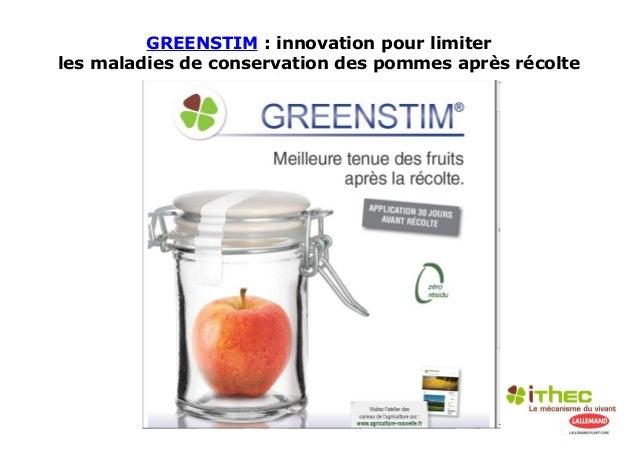GREENSTIM : innovation pour limiterles maladies de conservation des pommes après récolte