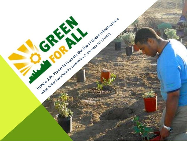 Using a Jobs Frame to Promote the Use of Green Infrastructure