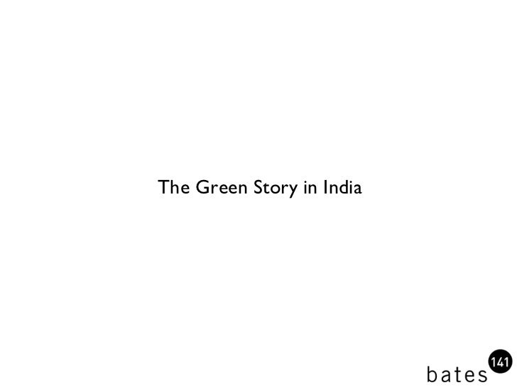The Green Story in India