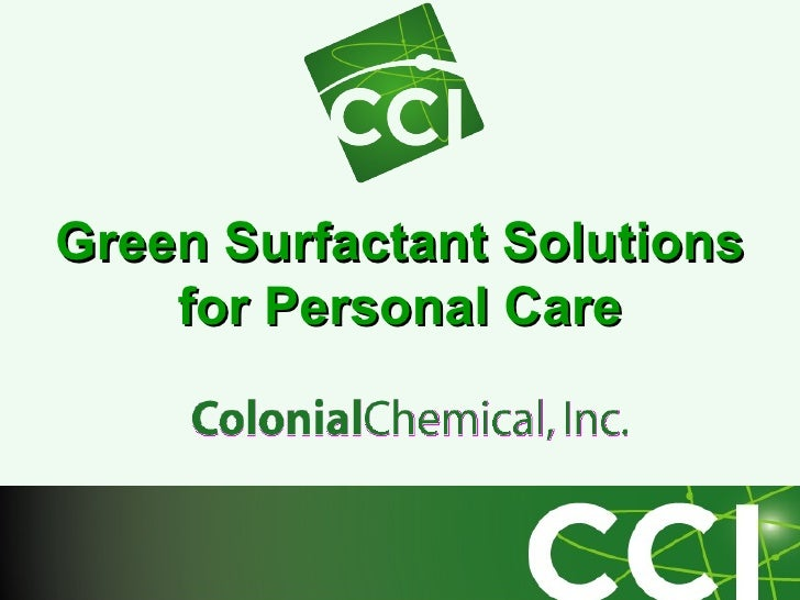 Green Surfactant Solutions  for Personal Care