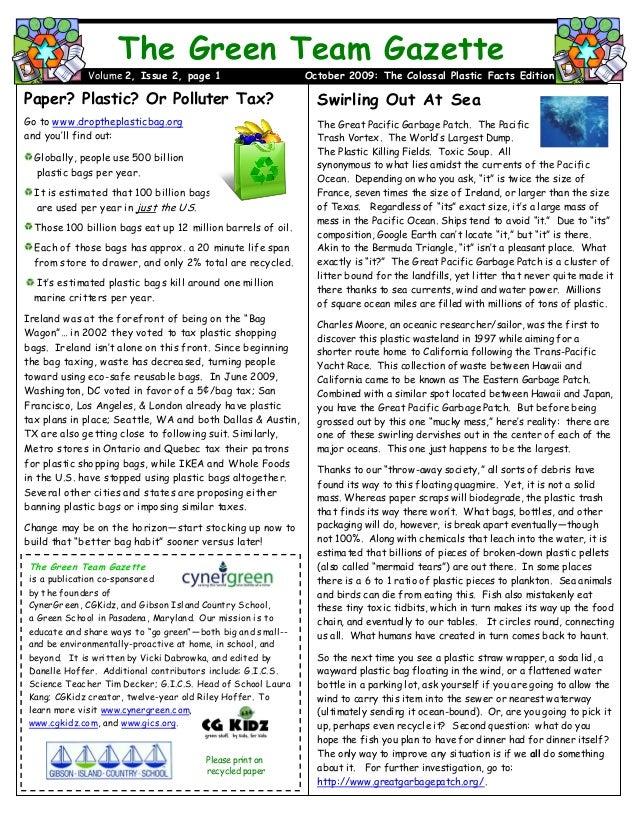 Green Team Gazette 2.2 October 09