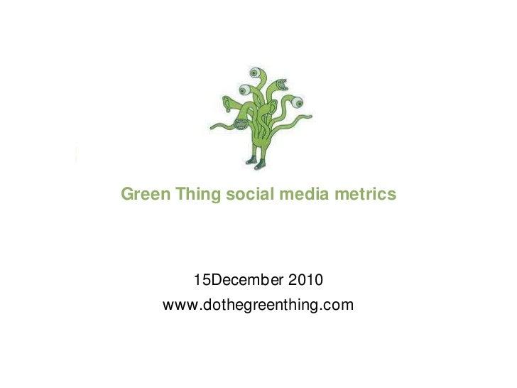 Do The Green Thing Social Media Metrics