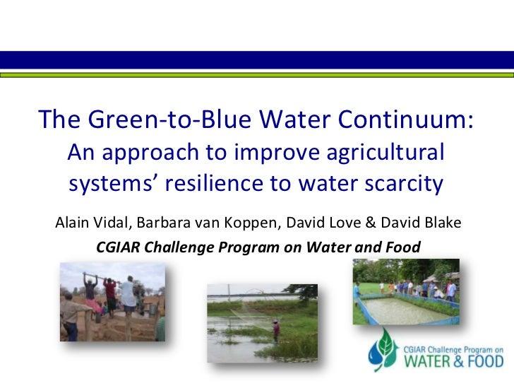 Green To Blue Water Continuum SWWW09 Vidal Et Al
