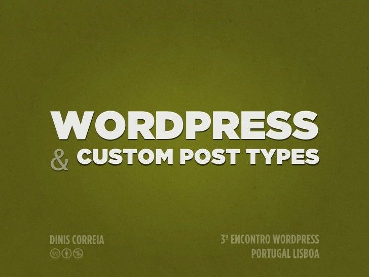 WordPress & Custm Post Types
