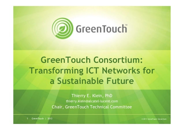 Introduction to GreenTouch - January 2013