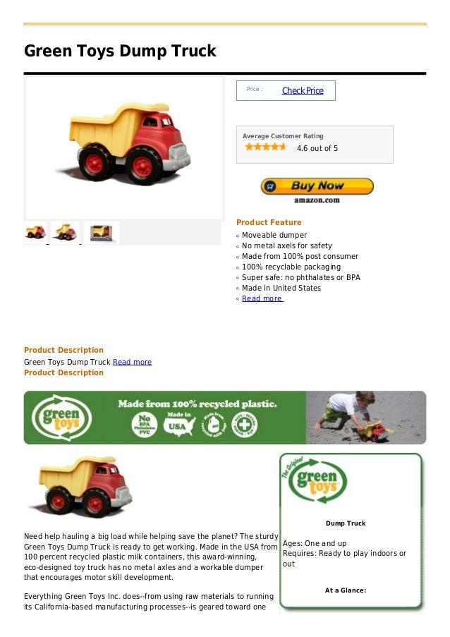 Green Toys Dump Truck                                                               Price :                               ...