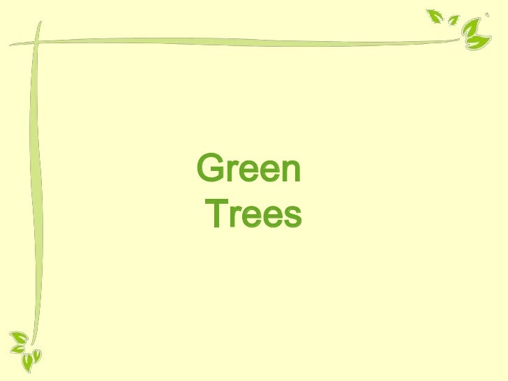 Free PowerPoint template - Green tree