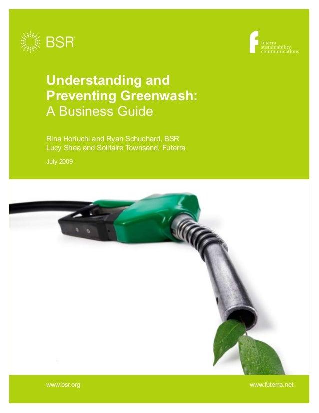 Greenwash understanding preventing