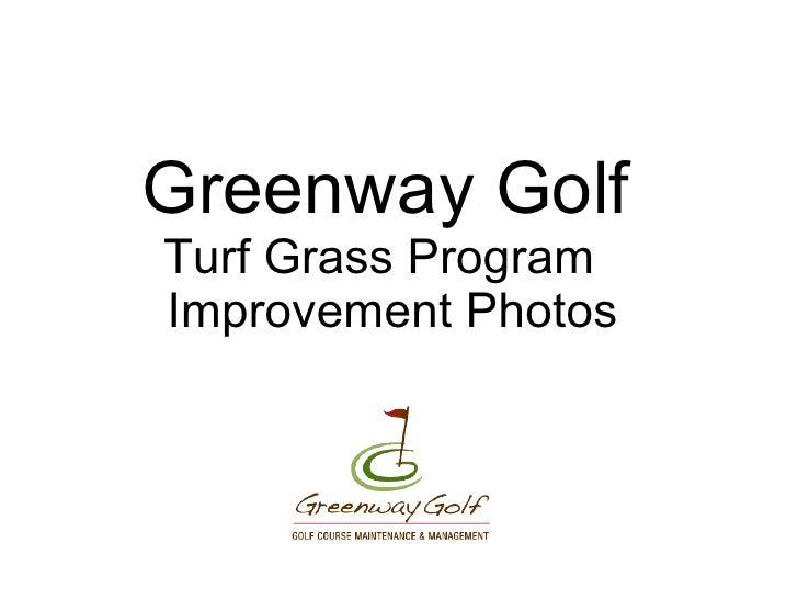 Greenway Golf Turf Grass Program   Improvement Photos