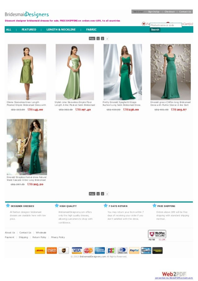 DESIGNER DRESSES All fashion designer bridesmaid dresses are available here with low price. HIGH QUALITY BridesmaidDesigne...